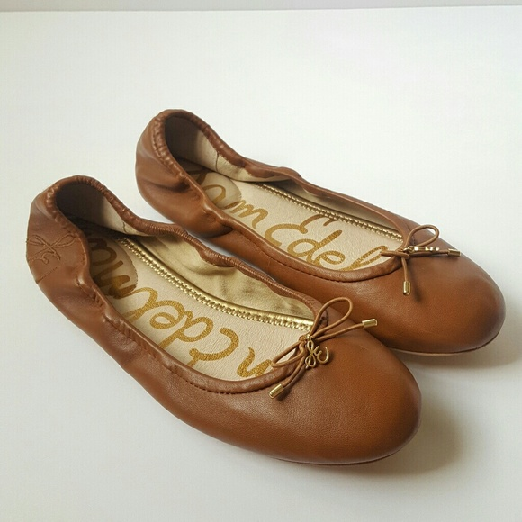 a51aef7a52123 Sam Edelman Felicia Brown Leather Flats. M 5b48208f534ef93c11b3bd94